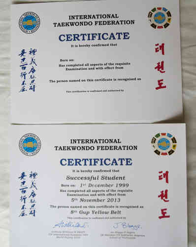 ITF Certificates